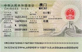 Kết quả hình ảnh cho visa ma cao